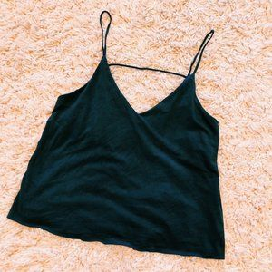 Forever 21 Tops - Forever 21 Navy Blue Cropped Tank Top With Cutout
